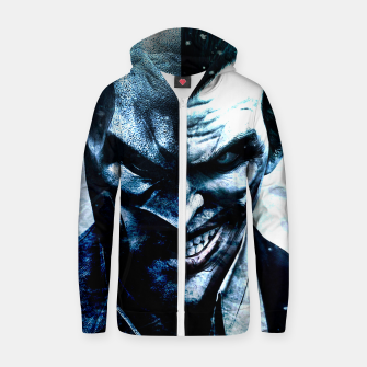 Miniature de image de Two Faces Zip up hoodie, Live Heroes