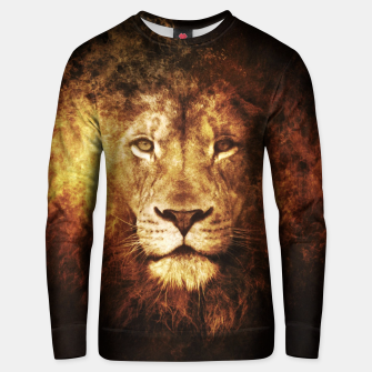 Fire Lion Unisex sweater Bild der Miniatur