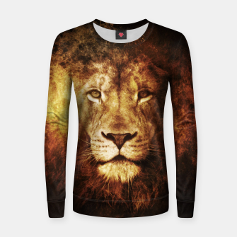 Miniatur Fire Lion Women sweater, Live Heroes