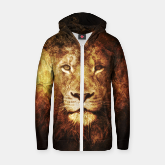 Miniatur Fire Lion Zip up hoodie, Live Heroes