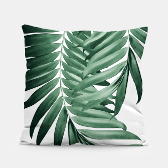 Thumbnail image of Palm Leaves Tropical Green Vibes #4 #tropical #decor #art Kissen, Live Heroes