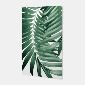 Thumbnail image of Palm Leaves Tropical Green Vibes #4 #tropical #decor #art Canvas, Live Heroes