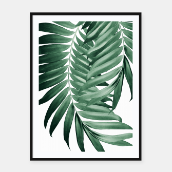 Thumbnail image of Palm Leaves Tropical Green Vibes #4 #tropical #decor #art Plakat mit rahmen, Live Heroes