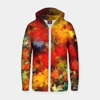 Thumbnail image of Combustible Zip up hoodie, Live Heroes