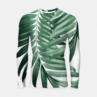 Thumbnail image of Palm Leaves Tropical Green Vibes #4 #tropical #decor #art Longsleeve rashguard, Live Heroes