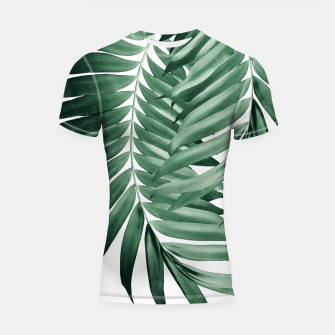 Thumbnail image of Palm Leaves Tropical Green Vibes #4 #tropical #decor #art Shortsleeve rashguard, Live Heroes
