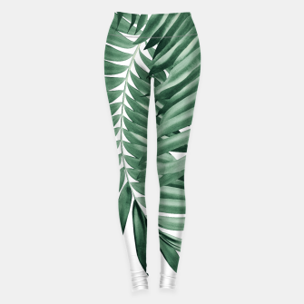 Thumbnail image of Palm Leaves Tropical Green Vibes #4 #tropical #decor #art Leggings, Live Heroes