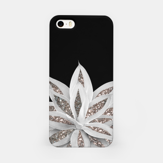 Thumbnail image of Gray Agave with Silver Glitter #1 #shiny #tropical #decor #art  iPhone-Hülle, Live Heroes