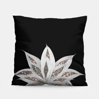 Miniatur Gray Agave with Silver Glitter #1 #shiny #tropical #decor #art  Kissen, Live Heroes