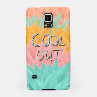 COOL OUT #2 #motivational #typo #decor #art  Handyhülle für Samsung obraz miniatury