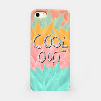 Miniatur COOL OUT #2 #motivational #typo #decor #art  iPhone-Hülle, Live Heroes