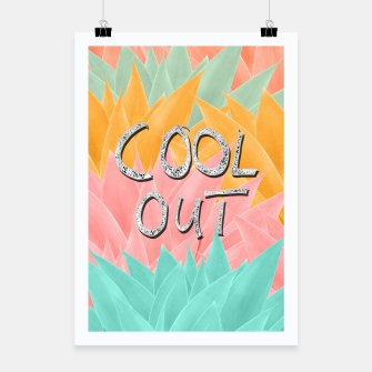 COOL OUT #2 #motivational #typo #decor #art  Plakat obraz miniatury