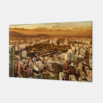 Miniaturka Santiago de Chile Aerial View from San Cristobal Hill Canvas, Live Heroes