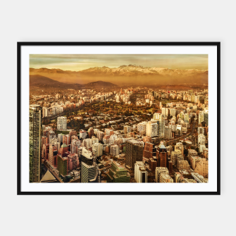 Miniaturka Santiago de Chile Aerial View from San Cristobal Hill Framed poster, Live Heroes