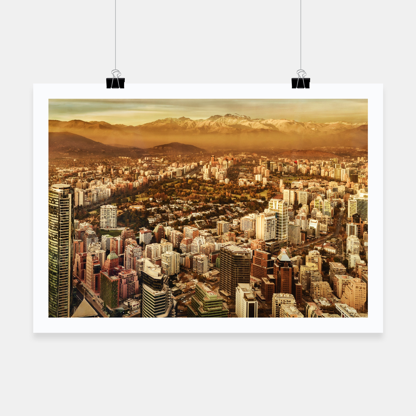 Zdjęcie Santiago de Chile Aerial View from San Cristobal Hill Poster - Live Heroes