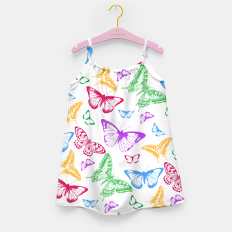 Butterflies Girl's dress Bild der Miniatur