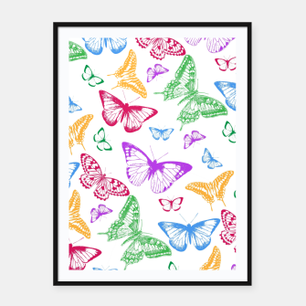Thumbnail image of Butterflies Framed poster, Live Heroes