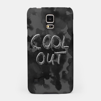 Miniatur COOL OUT #1 #motivational #typo #decor #art  Handyhülle für Samsung, Live Heroes