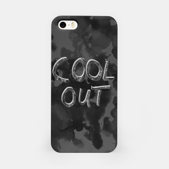 Miniatur COOL OUT #1 #motivational #typo #decor #art  iPhone-Hülle, Live Heroes