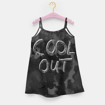 Miniatur COOL OUT #1 #motivational #typo #decor #art  Mädchenkleid, Live Heroes