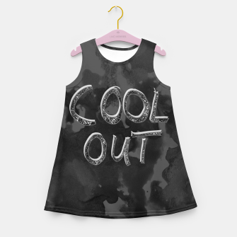 Miniaturka COOL OUT #1 #motivational #typo #decor #art  Mädchen-Sommerkleid, Live Heroes