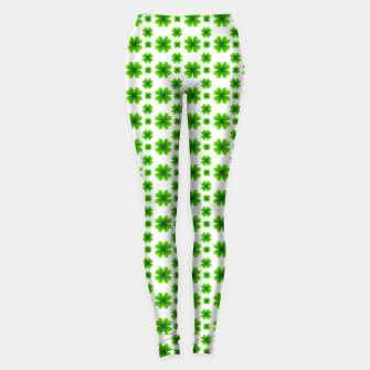 Miniaturka Shamrocks Pattern Leggings, Live Heroes