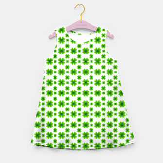 Thumbnail image of Shamrocks Pattern Girl's summer dress, Live Heroes