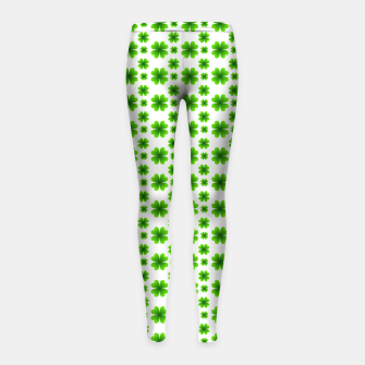 Thumbnail image of Shamrocks Pattern Girl's leggings, Live Heroes