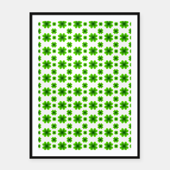 Thumbnail image of Shamrocks Pattern Framed poster, Live Heroes