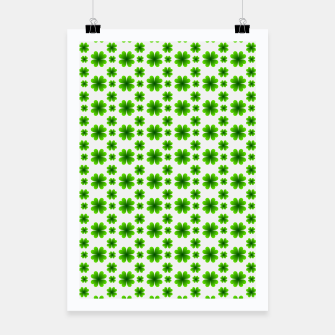 Thumbnail image of Shamrocks Pattern Poster, Live Heroes