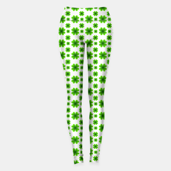 Thumbnail image of Shamrocks Pattern Leggings, Live Heroes