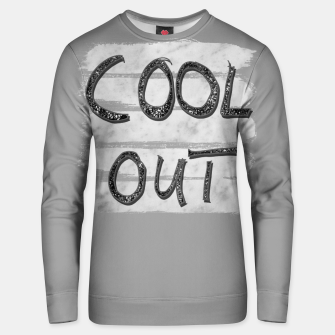 Miniaturka COOL OUT #3 #motivational #typo #decor #art Unisex sweatshirt, Live Heroes