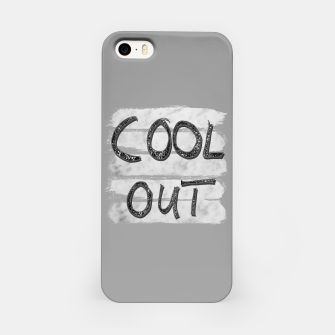 Miniatur COOL OUT #3 #motivational #typo #decor #art iPhone-Hülle, Live Heroes