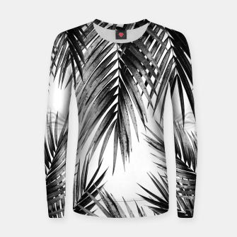 Miniaturka Palm Leaf Jungle Vibes #3 #tropical #decor #art Frauen sweatshirt, Live Heroes