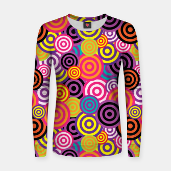 Thumbnail image of Abstract Circles Women sweater, Live Heroes