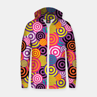 Thumbnail image of Abstract Circles Zip up hoodie, Live Heroes