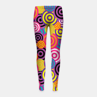 Miniatur Abstract Circles Girl's leggings, Live Heroes