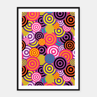 Miniaturka Abstract Circles Framed poster, Live Heroes
