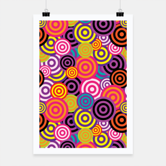 Miniature de image de Abstract Circles Poster, Live Heroes