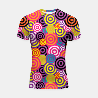 Miniatur Abstract Circles Shortsleeve rashguard, Live Heroes