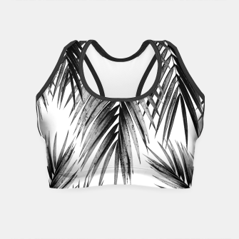 Miniaturka Palm Leaf Jungle Vibes #3 #tropical #decor #art Crop Top, Live Heroes