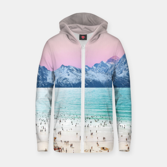 Thumbnail image of The Island Zip up hoodie, Live Heroes