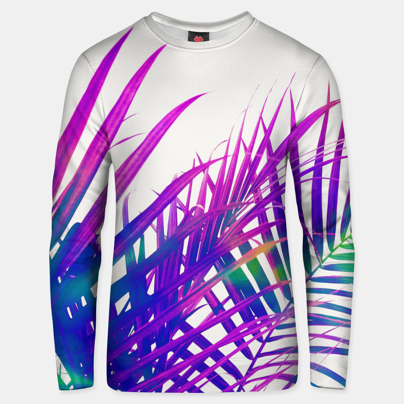 Foto Colorful Palm Unisex sweater - Live Heroes
