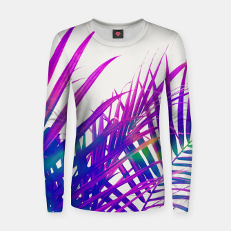 Thumbnail image of Colorful Palm Women sweater, Live Heroes