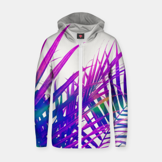 Thumbnail image of Colorful Palm Zip up hoodie, Live Heroes