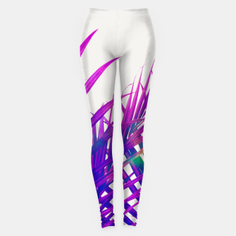 Colorful Palm Leggings Bild der Miniatur