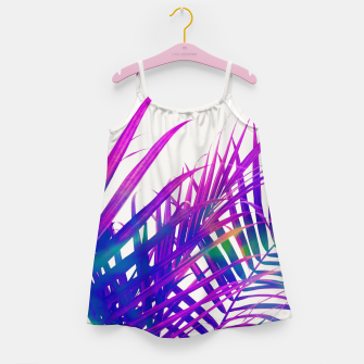 Colorful Palm Girl's dress miniature