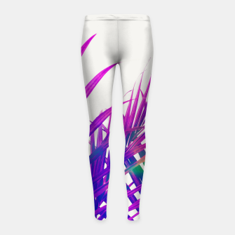Colorful Palm Girl's leggings Bild der Miniatur