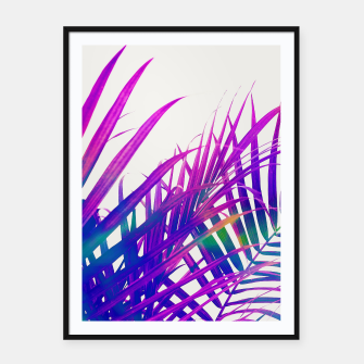 Thumbnail image of Colorful Palm Framed poster, Live Heroes