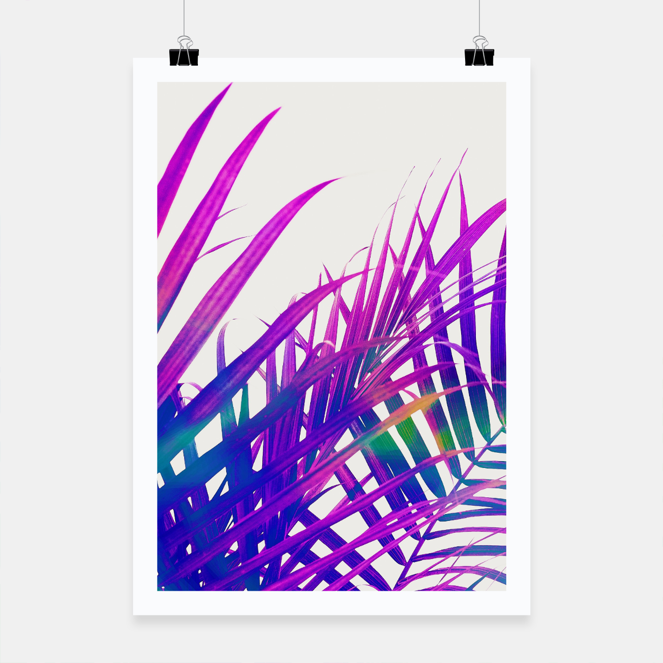 Foto Colorful Palm Poster - Live Heroes